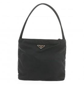 PRADA Tote Bag Nylon Black Auth 19591