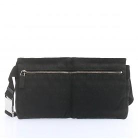 GUCCI GG Canvas Waist Pouch Body Bag Black Auth 22456