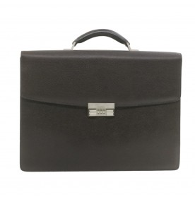 BALLY Leather Briefcase Hand Bag Black Auth fm224