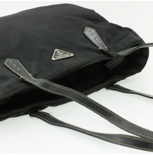PRADA Nylon Tote Bag Black Auth pg1176