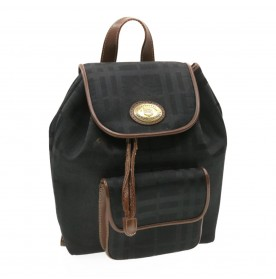 BURBERRYS Backpack Black Canvas Auth rd1111
